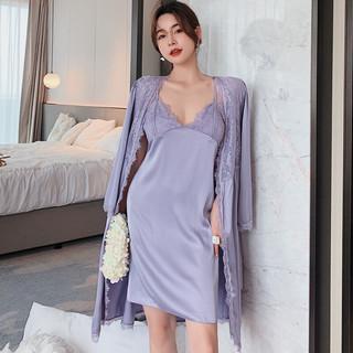 PEANOJEAN 6850 性感蕾丝吊带睡裙睡衣两件套