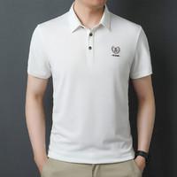 虎都 夏季新款宽松POLO衫舒适商务简约休闲男式T恤