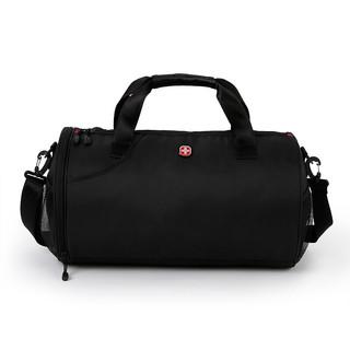 CROSSGEAR 十字勋章   健身包男女大容量旅行包运动背包独立鞋仓行李包圆筒篮球包训练包手提桶包干湿分离游泳包