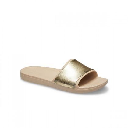 Crocs 卡骆驰 思珑 女士闪亮平底一字凉拖鞋