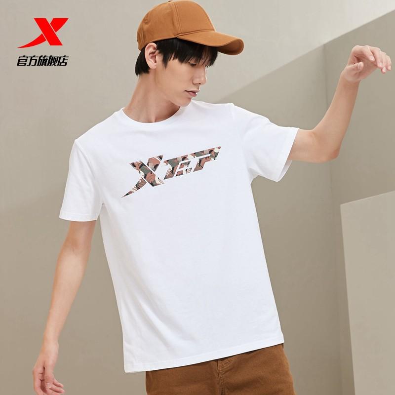XTEP 特步 879229010080 男款短袖T恤