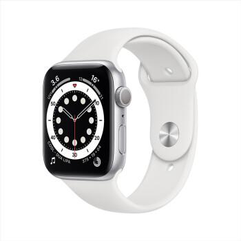 Apple 苹果 Watch Series 6  智能手表 44mm GPS款 银色铝金属表壳 白色运动型表带(血氧、GPS)