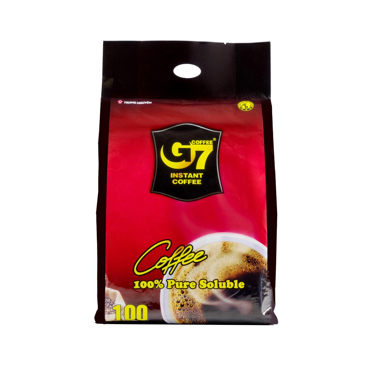 越南G7純黑速溶咖啡200g 100包*2g