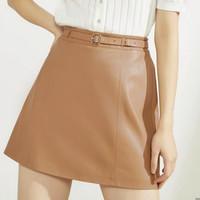 ONLY 12036S001 A字皮裙半身裙