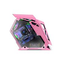 玩嘉 小咖电脑机箱atx大板水冷机箱全侧透游戏主机箱异型机箱台式机(支持/120/240/360水冷) 小咖粉色