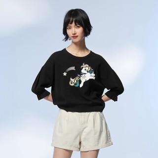 ONLY 2020夏季新款小马宝莉联名款卡通印花毛针织衫女|120324030