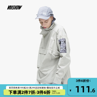 ViiSHOW VIISHOW新款夹克男 日系宽松套头高领男士外套韩风时尚外套