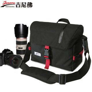 JENOVA 吉尼佛 吉尼佛摄影包77168便携单肩包男女斜跨大容量佳能尼康单反相机包