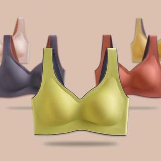 泰国升级乳胶内衣无痕蕾丝聚拢无钢圈防震跑步背心运动文胸罩