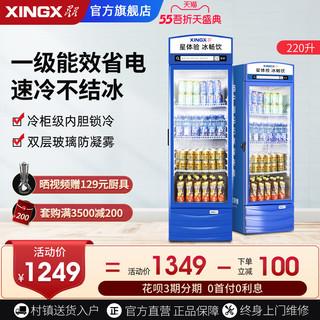 星星LSC220升商用大容量展示柜冷藏冰箱冷柜陈列柜立式保鲜柜冰柜