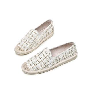 JANE HARLOW 时尚渔夫鞋新款时尚懒人一脚蹬平底休闲女单鞋