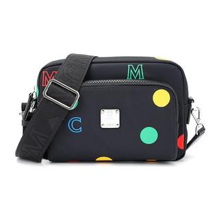 MCM  女士Klassik系列黑色波点尼龙单肩斜挎包MMRAAKC07BK001