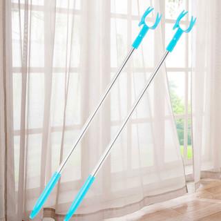秉优  不锈钢伸缩衣叉 撑衣杆晾衣杆收衣杆衣服叉子 1.3米