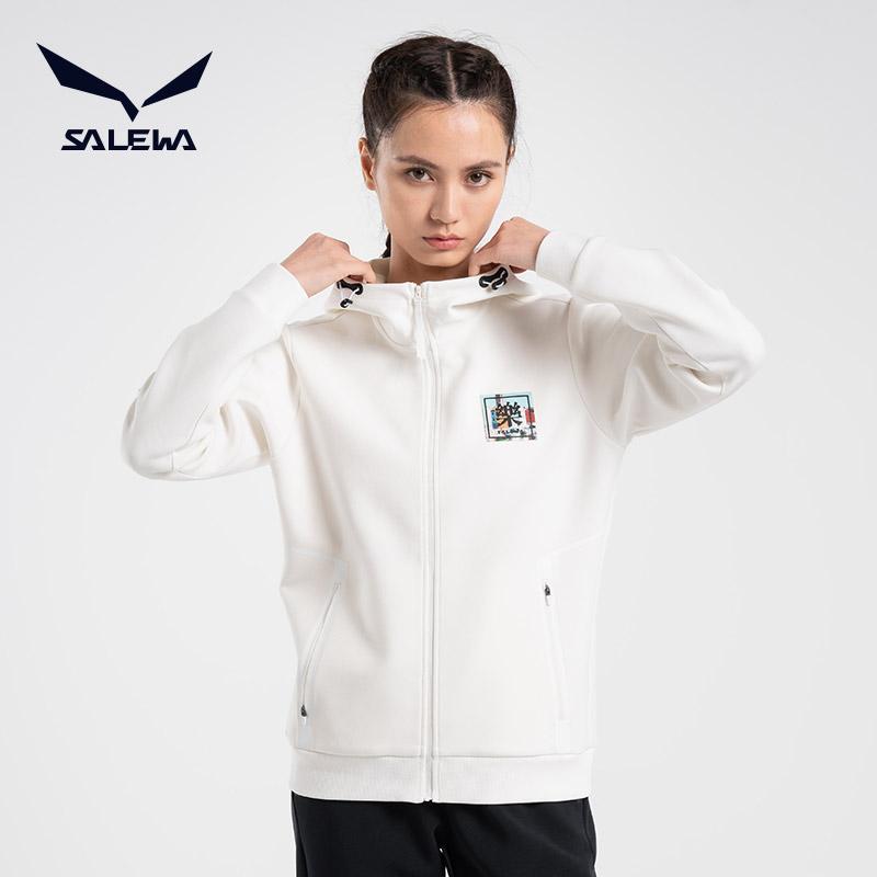 salewa沙乐华开衫卫衣女2021春季新款户外运动休闲连帽外套运动服