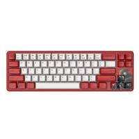 AJAZZ 黑爵 镖人定制机械键盘 蓝牙键盘 双模键盘 热升华键帽 蓝牙5.0 多设备 白光 电脑笔记本办公 奶黄轴