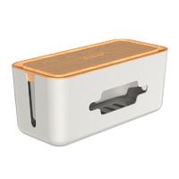 Orico电线收纳盒桌面排插理线盒 原色木纹中号