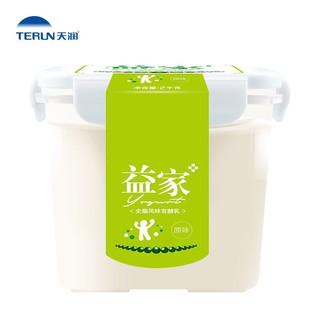 TERUN 天润 天润新疆低温佳丽益家方桶老酸奶风味家庭装 2KG*1桶