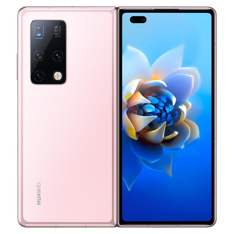 华为HUAWEI Mate X2折叠屏5G手机 无缝鹰翼折叠 全网通 冰晶粉 256G