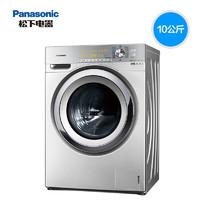 Panasonic 松下 松下(Panasonic)洗衣机滚筒10公斤纳诺怡除味除菌洗烘一体拉丝银 XQG100-EG13P