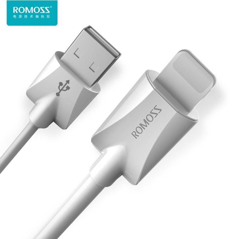 罗马仕(ROMOSS)苹果手机数据线usb快充线2.1A适用iPhone7/8/11/Xmax充电线 1m