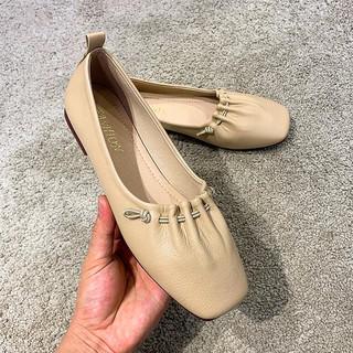 Pioneer Camp 拓路者 春夏新品女鞋豆豆鞋女平底方头女单鞋夏懒人鞋一脚蹬女士单鞋