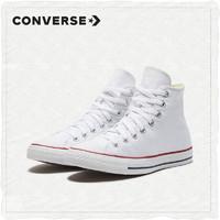 CONVERSE匡威官方All Star经典款白色高帮帆布鞋百搭男女鞋101009(36.5、白色/101009)