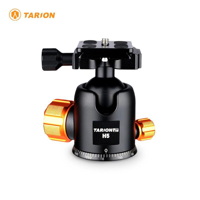 TARION 德国碳纤维三脚架 相机稳定器 摄影摄像 专业相机直播三脚架 vlog拍摄 云台 云台H5