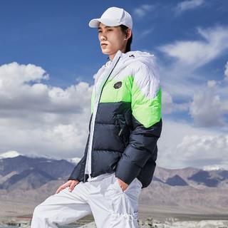 LI-NING 李宁 男式羽绒服男AYMP199时尚撞色短款百搭连帽保暖男士外套男