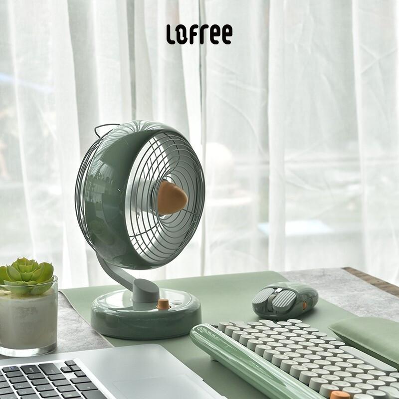 LOFREE洛斐 有范儿桌面迷你台式空气循环小电风扇 静音台扇 办公家用小风扇 半夏风扇