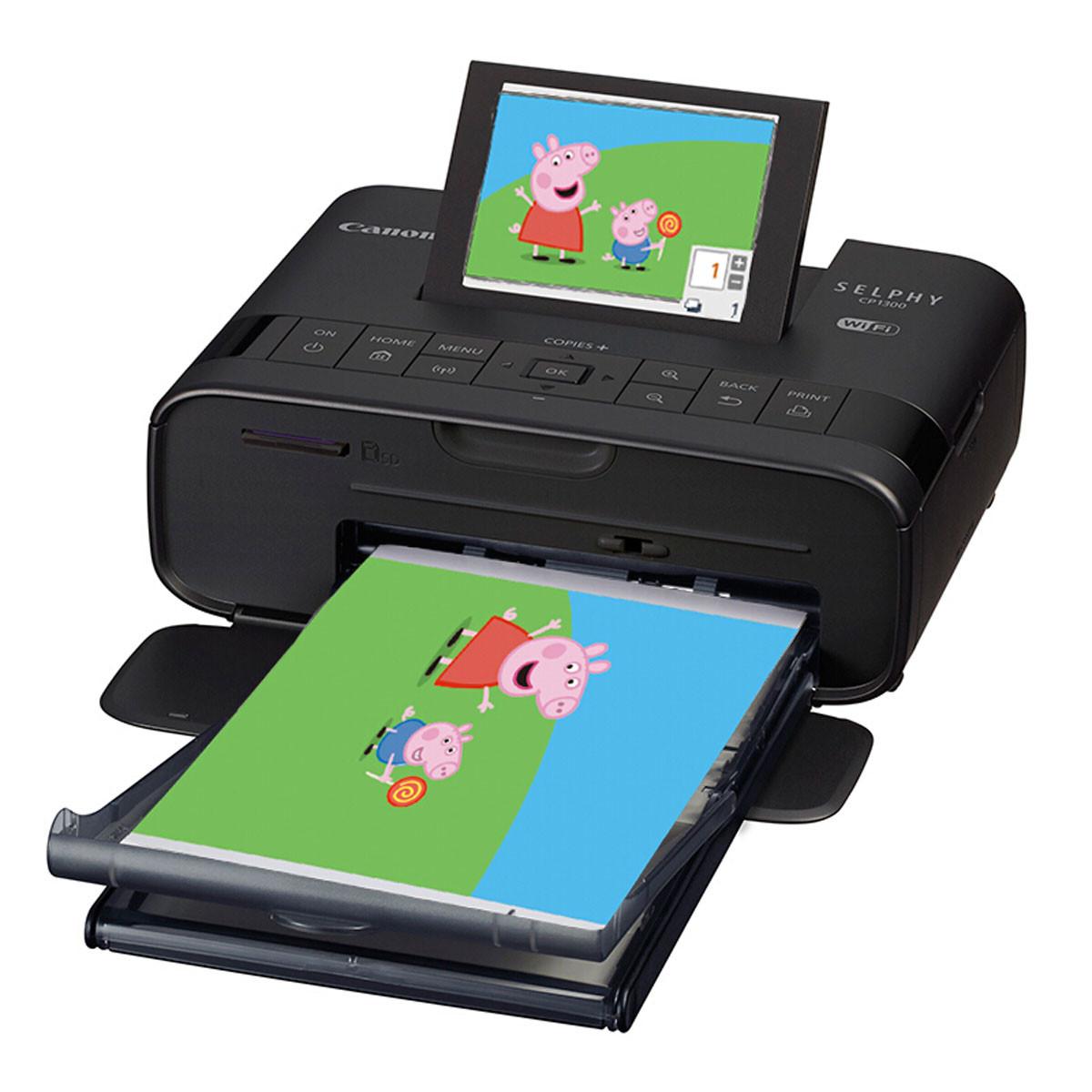 CP1300 手机照片打印机 迷你 家用 便携 手机wifi连接 经典黑