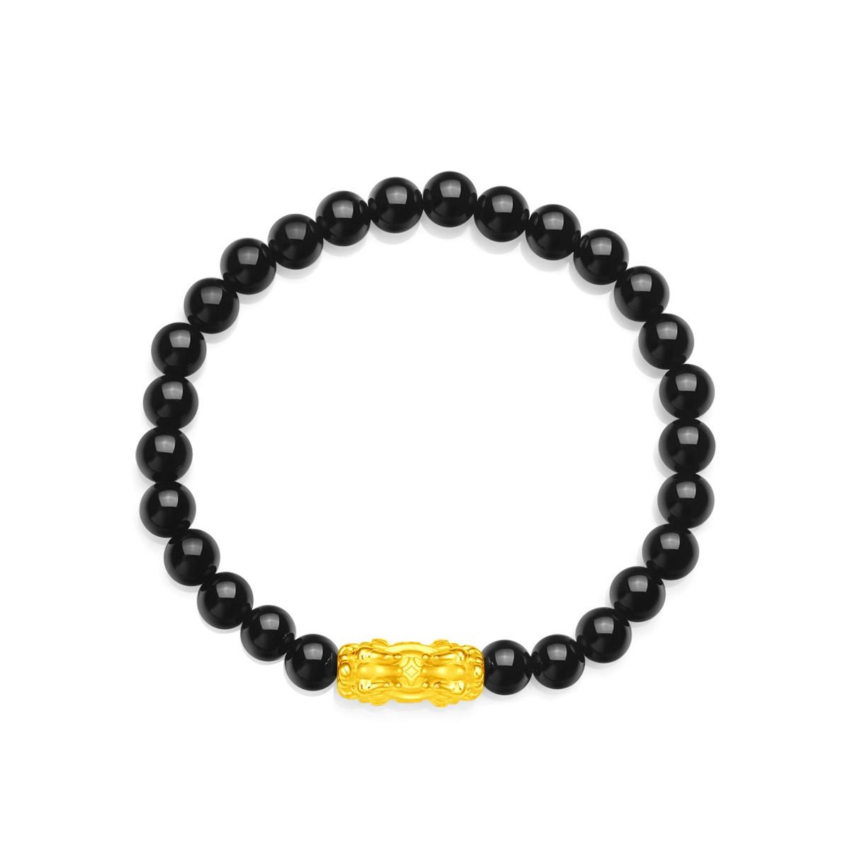EOR108-A  双头财字貔貅手链