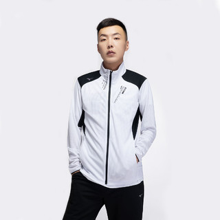 Mizuno 美津浓 美津浓 透气舒适 男式薄款立领针织开衫运动男装外套