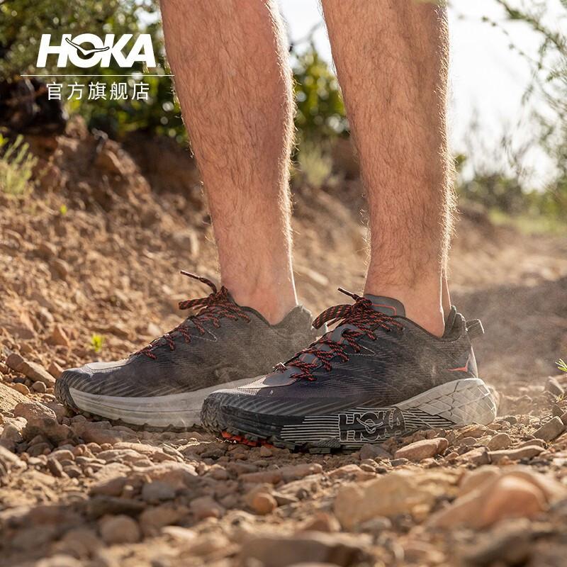 HOKA ONE ONE男飞速羚羊4越野跑步鞋Speedgoat4减震防滑2021新品 深鸥灰/烟灰 41/260mm