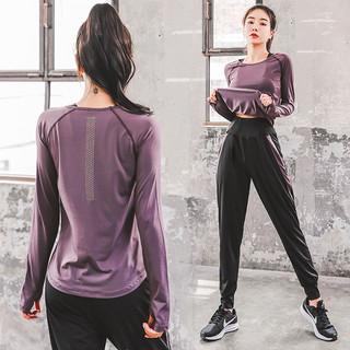 瑜伽服运动套装女夏季跑步健身服大码速干衣时尚网红宽松显瘦弹力