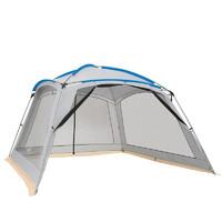 CAMEL 骆驼 骆驼 CAMEL天幕帐篷大空间多人户外大型野营装备加厚防雨遮阳帐篷遮雨棚 A0S3US103,灰白
