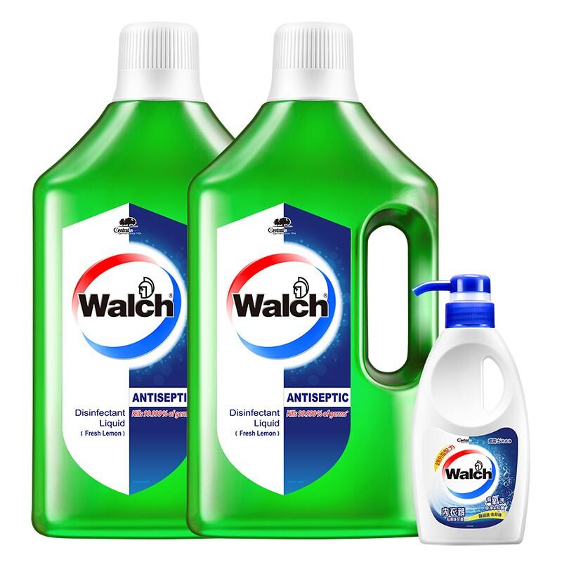 威露士 多用途消毒液青柠1.5 L*2+威露士内衣净300g 杀菌率99.999% 衣物消毒剂 非84消毒水