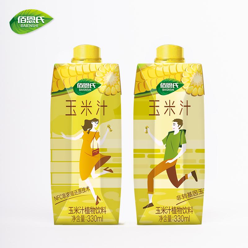 佰恩氏NFC鲜榨玉米汁饮料薏米红豆黎麦玉米非转基因酒宴330*6瓶