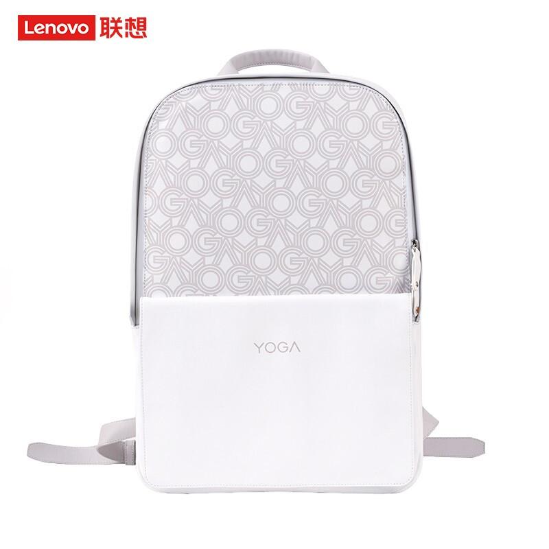 联想(Lenovo)YOGA 双肩包 休闲笔记本电脑包 简约利落 致敬经典 MINI 拿铁白