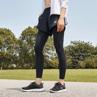 SKECHERS 斯凯奇 春夏新款假两件瑜伽裤女跑步运动紧身裤速干健身裤女