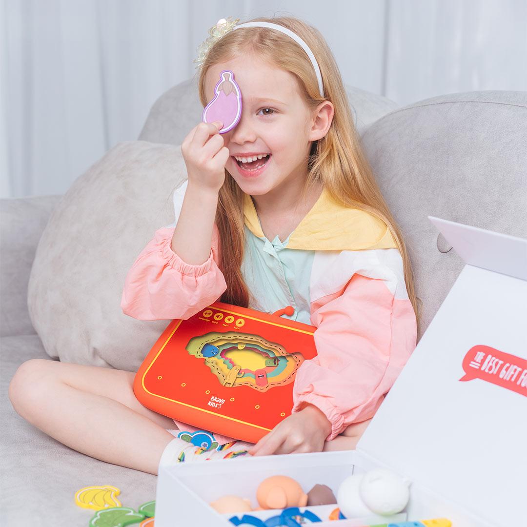 Bravokids儿童双语启蒙派早教机脑力开发玩具