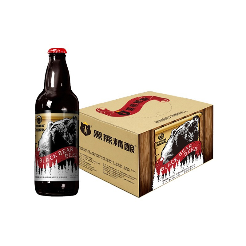 黑熊精酿(原浆小麦)498ML 1*12瓶 整箱装