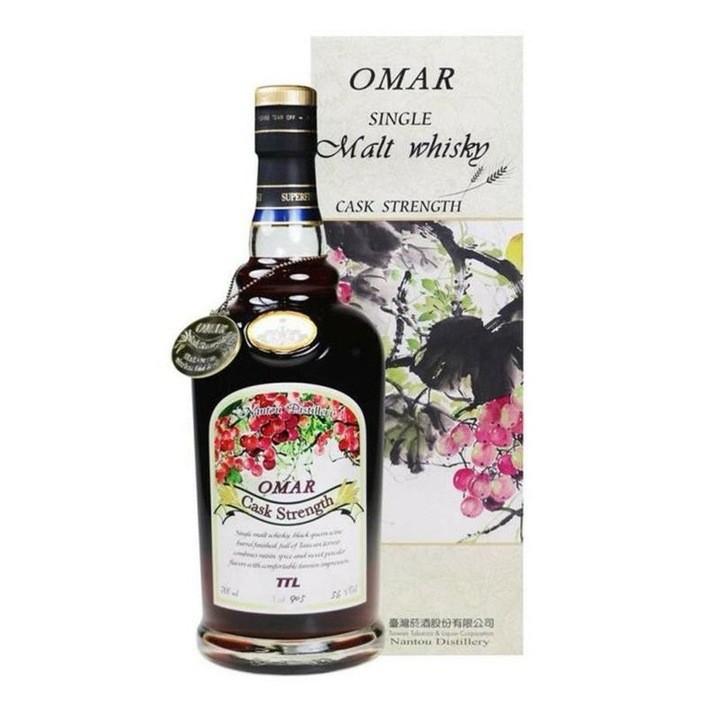 OMAR 傲玛 原桶强度 单一麦芽威士忌酒 葡萄酒桶/荔枝酒桶/梅子酒桶 700ml