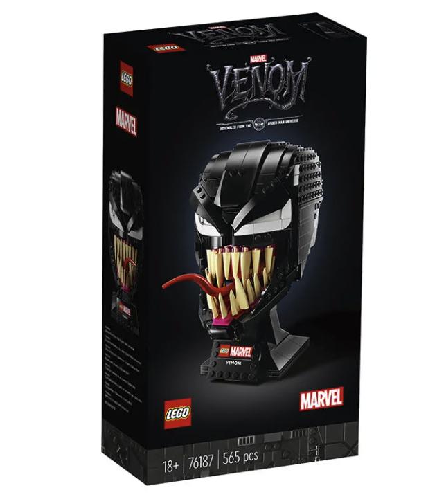 乐高漫威超级英雄76187毒液的头盔积木拼装玩具男孩
