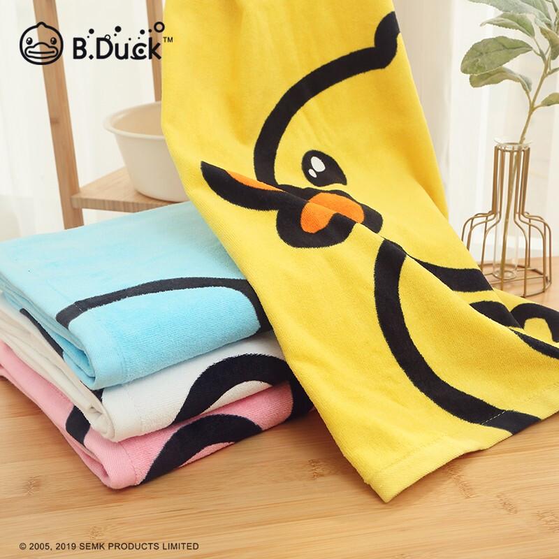 小黄鸭(B.Duck)纯棉割绒印花儿日用浴巾 经典黄