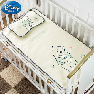 Disney baby 迪士尼宝宝(Disney Baby)婴儿凉席儿童冰丝席宝宝午睡婴儿床凉席枕头夏季儿童凉席两件套 维尼小熊120*60cm