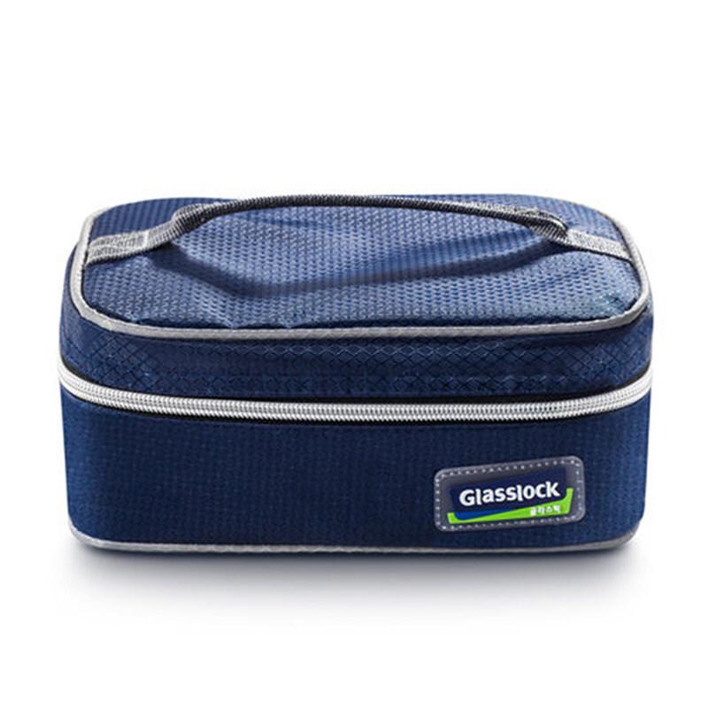 GlassLock盖朗原装便当包韩版便携保温饭盒袋小拎包手提袋餐包 蓝色