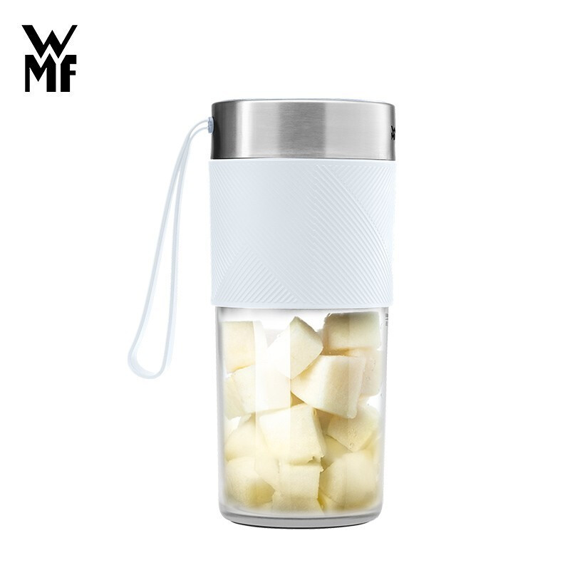 WMF德国福腾宝榨汁机便携榨汁杯充电搅拌杯家用榨汁杯便携搅拌机USB充电大容量电池便携随行榨汁杯 象牙白