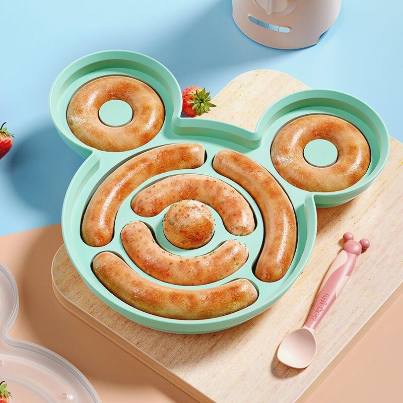 迪士尼(Disney)母婴 宝宝香肠模具 可蒸煮耐高温婴儿辅食儿童蒸糕蒸肠磨具肉肠贝蓝22220028