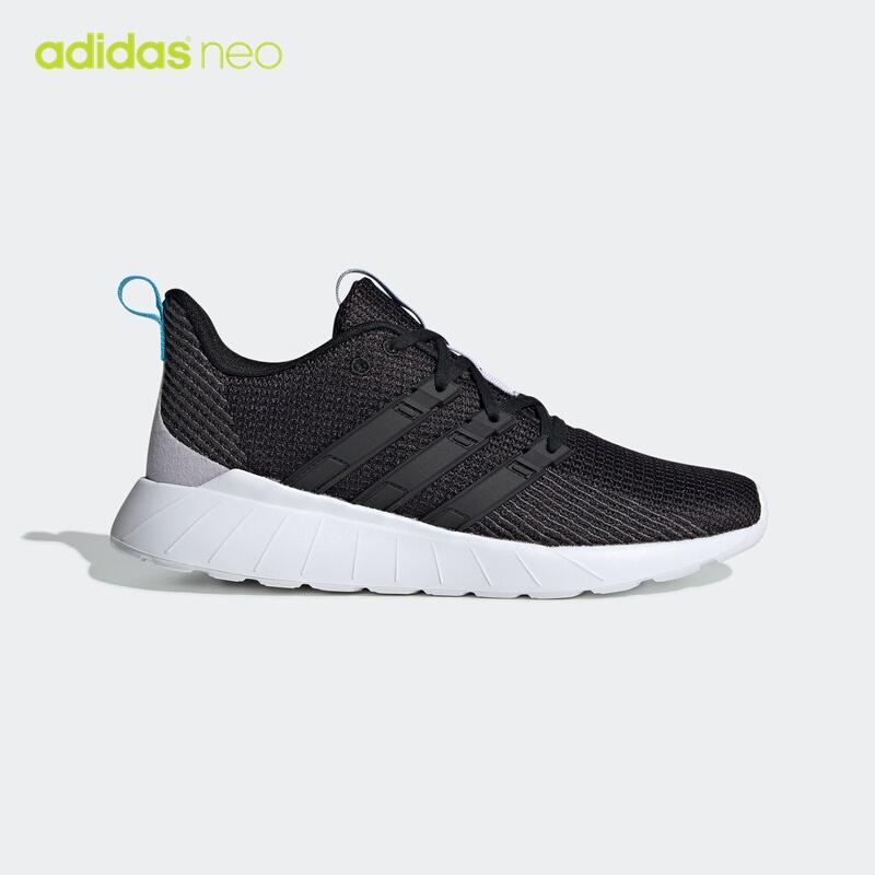 阿迪达斯官网 adidas neo QUESTAR FLOW 女鞋休闲运动鞋EG3640 一号黑/一号黑/浅水蓝 39(240mm)