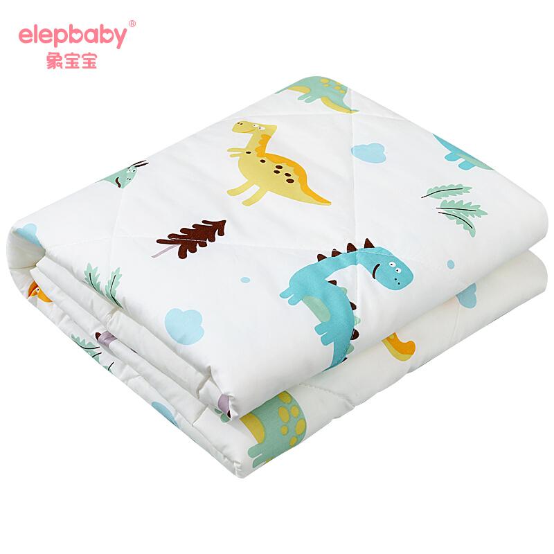 象宝宝(elepbaby)儿童被子新生婴儿宝宝被子春秋季保暖透气空调被被芯幼儿园棉被 恐龙 120*150